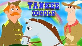 янки каракули | рифма для младенцев | Yankee Doodle Went To Town | American Patriotic Song