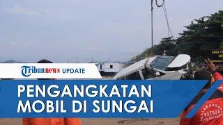 Mobil yang Tercebur di Sungai Mahakam Berhasil Diangkat, Polisi: Tak Ditemukan Korban di Dalam Mobil