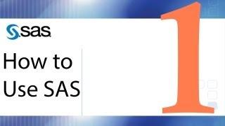 How to Use SAS - Lesson 1 - The SAS Interface