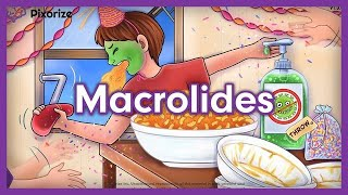 Macrolides Pharmacology Mnemonic Review for NCLEX | Antibiotics, Mechanism of Action, Side Effects