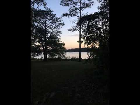 sunset over Hurricane Lake