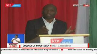Mr David Wayiera talks of improving garbage collection and relocation, The Kisumu debate