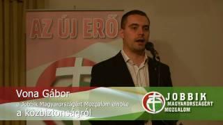preview picture of video 'Vona Gábor, a JOBBIK elnöke a közbiztonságról - Balatonalmádi, 2009.05.24.'