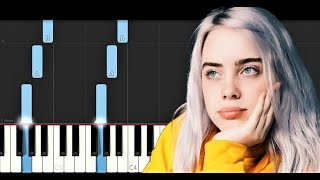 Billie Eilish   Six Feet Under (Piano Tutorial)