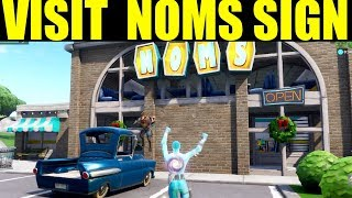 Visit the noms sign in retail row Location! Week 4 season 7 Challenge guide