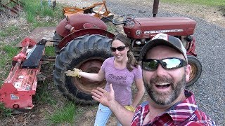 IS A 40 YEAR OLD MASSEY FERGUSON 135 UP TO THE TILLING JOB??  MRS STONEY GETS SPUNKY!!!