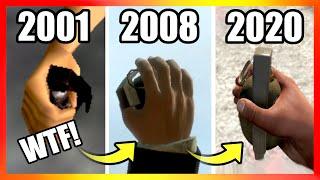 Evolution of GRENADES LOGIC in GTA Games (2001-2020)