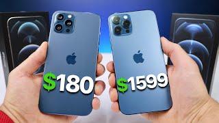 $180 Fake iPhone 12 Pro Max vs $1,599 12 Pro Max!
