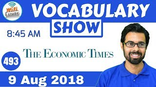 8:45 AM - The Economic Times Vocabulary with Tricks (9 Aug, 2018) | Day #493