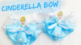 Disney Princess Cinderella Hair Bow / How To Make Hair Bow With Ribbon / DIY HairBow | Miss O Crafts