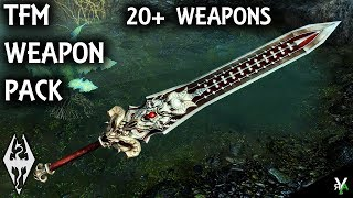 TFM WEAPON PACK 1: HUGE Weapon Mod- Xbox Modded Skyrim Mod Showcase