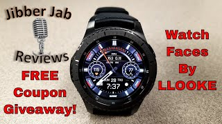 Samsung Gear S3/Gear Sport Watch Faces by LLOOKE - FREE COupon Giveaway!  - Jibber Jab Reviews!