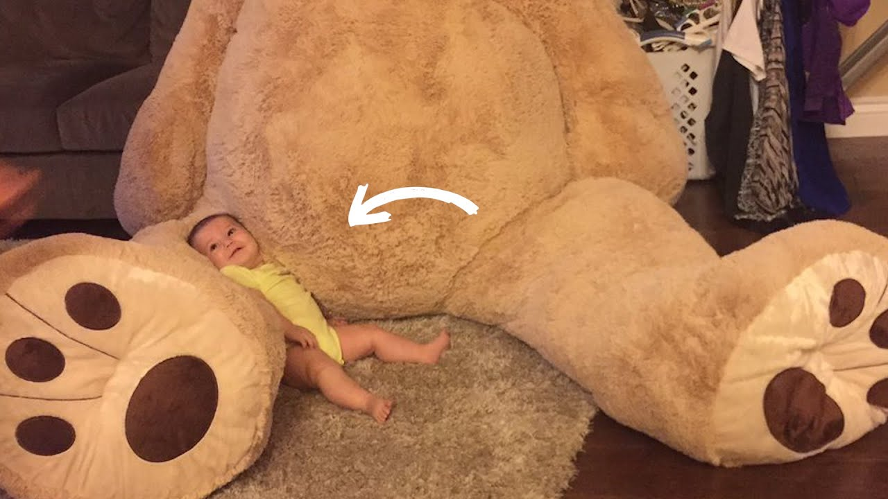 This Baby Just Received The Biggest Teddy Bear Ever thumbnail