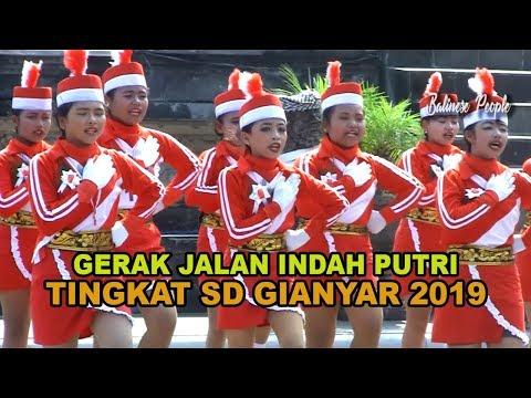LOMBA GERAK JALAN INDAH PUTRI TINGKAT SD GIANYAR 13 AGUSTUS 2019