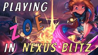 PLAYING ZOE IN NEXUS BLITZ! | League of Legends | My First Video