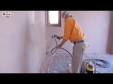 Peindre les murs au pistolet airless basse pression -Tuto brico avec Robert pour peindre un mur