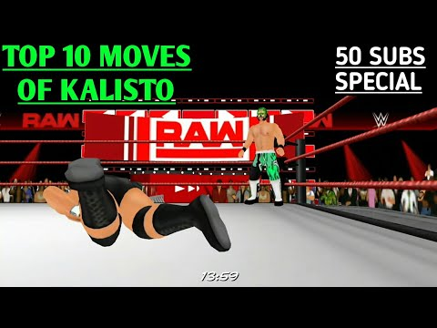 Wwe Top 18 Moves Of Kalisto Wrestling Revolution 3d