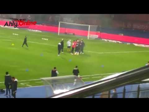 الشناوي ورد فعل مثير مع حراس طلائع الجيش قبل مباراة الأهلي