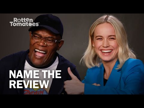 """Captain Marvel's Samuel L. Jackson and Brie Larson Play """"Name the Review"""""""