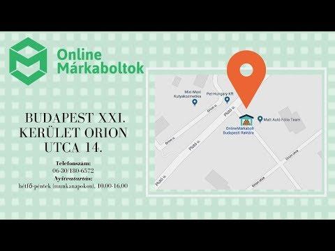 Online Márkaboltok  - Raktárunkhoz vezető útvonal.