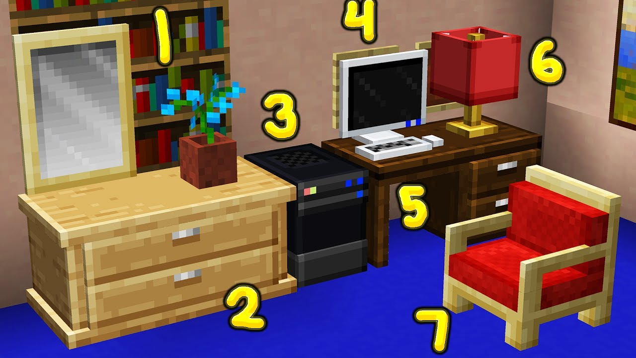 400+ NEW Minecraft Furniture INSTANTLY (Resource Pack) MINECRAFT Resource Pack
