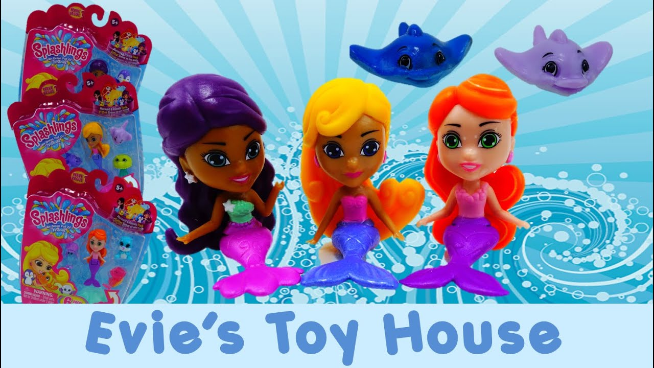 Splashlings Mermaid & Friends Pack with Mystery Pet Review   Evies Toy House