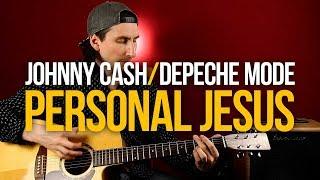 Как играть Personal Jesus на акустике Depeche Mode Johnny Cash - Уроки игры на гитаре Первый Лад