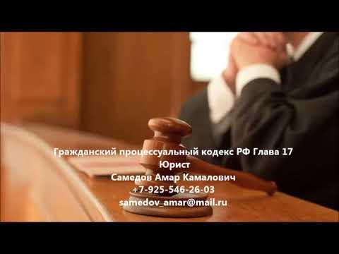 Гражданский процессуальный кодекс  РФ Глава 17 ПРИОСТАНОВЛЕНИЕ ПРОИЗВОДСТВА ПО ДЕЛУ