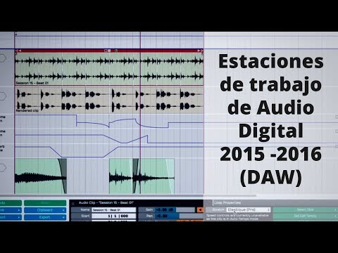 Estaciones de trabajo de audio digital 2015 2016 (DAW)