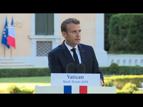 Emmanuel Macron chanoine d'honneur du Latran