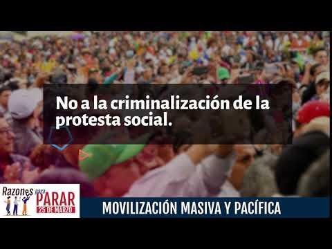 Razones para Parar, por el derecho a la Protesta Social