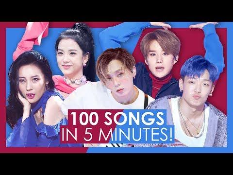 My TOP 100 K-pop Songs of 2018 in 5 MINUTES!
