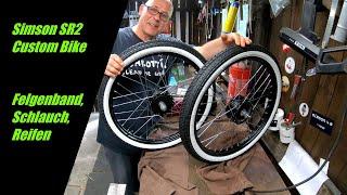 Simson SR2 || Reifen montieren || Räder || Part 21