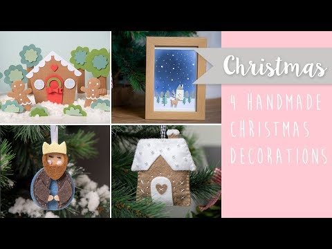 Four Handmade Christmas Decorations - Sizzix
