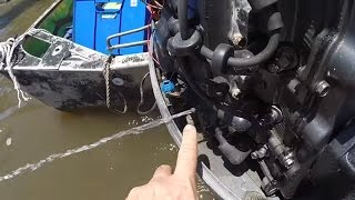 No water from outboard tell-tale