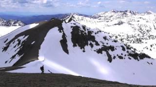 Bike and ski adventure from Bozeman to Hyalite Peak
