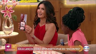 Rede Globo, publicação Editora Anjo. Encontro com Fátima Bernardes apresenta escritora e Poeta Júli