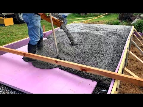 You've Probably Never Seen A Concrete Pour Like This Before,  Insulated Kiln Slab
