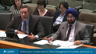 Performance, Compensation & Talent Management Committee on November 19, 2019