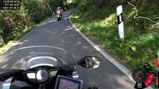 preview picture of video 'VFR1200 on Company ride out 2014 part three on road K53-K54-K83'