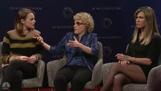 Download Youtube: Emma Stone and Jennifer Aniston Star in 'SNL' Sketch That Takes On Women in Film – Watch
