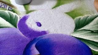 Como pintar ameixas em tecido