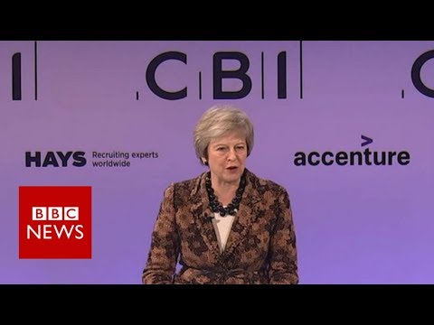 Theresa May seeks business support for Brexit plan - BBC News