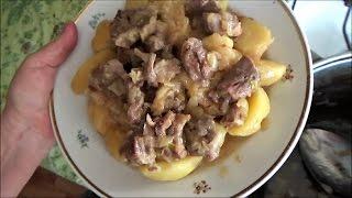 ЖАРКОЕ ИЗ БАРАНИНЫ С КАРТОШКОЙ В КАЗАНЕ - вкусная и сытная домашняя еда