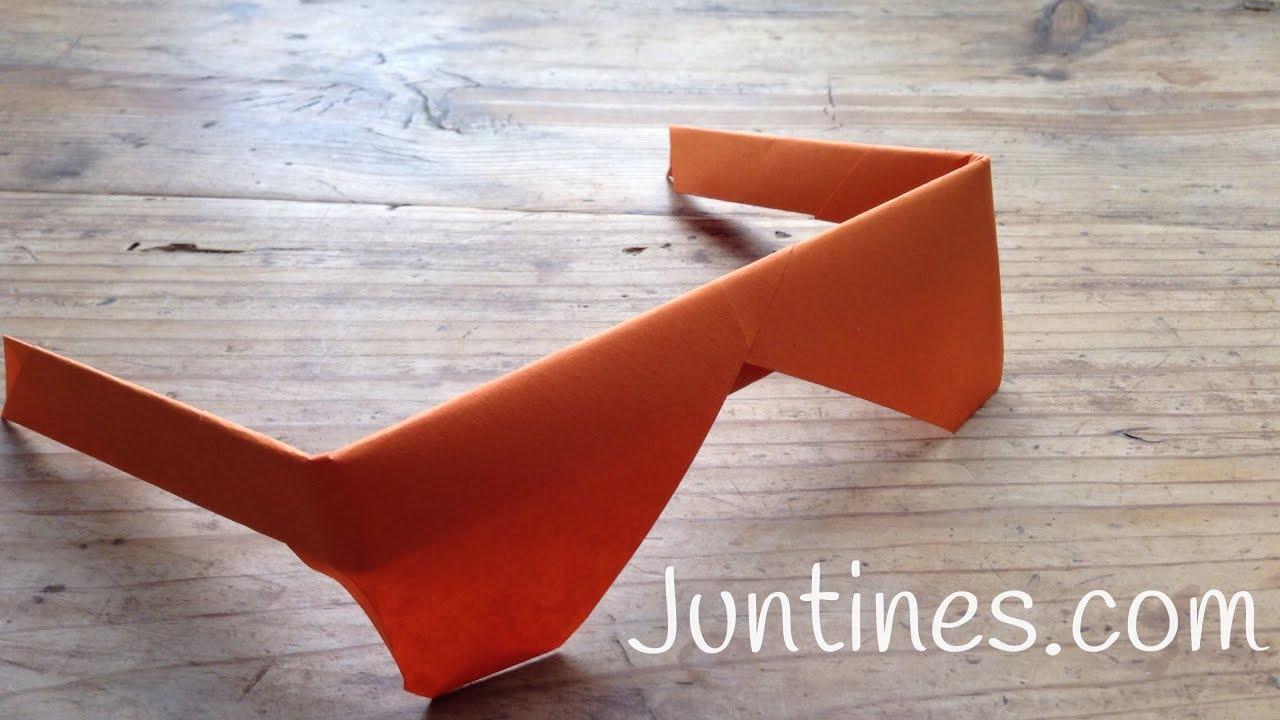 Origami fácil para niños: Gafas de papel - Origami for kids