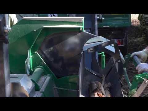 Wippkreissäge Typ WK-F mit Förderband Produktivdeo