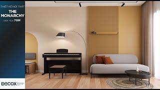 Mẫu thiết kế nội thất căn hộ 70m2 phong cách Color Block - The...