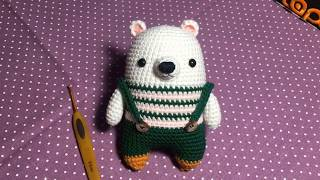Hướng Dẫn Móc Gấu Mặc Yếm - How To Crochet A Bear - Amigurumi Bear