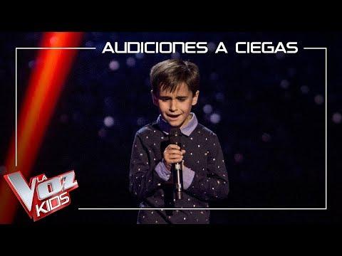 Daniel García canta 'El patio' | Audiciones a ciegas | La Voz Kids Antena 3 2019