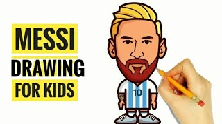 Messi Drawing For Kids